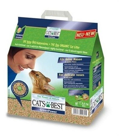 CATS BEST Green Power żwirek drzewny 8l