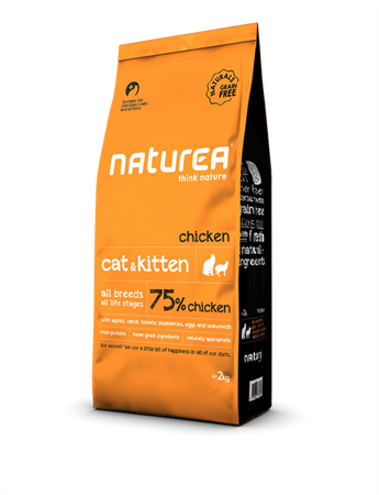 Naturea chicken sterilised cat & kitten 7kg