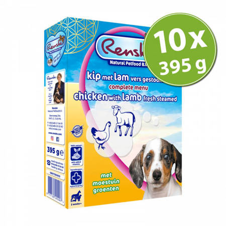 Renske gluten free Fresh Puppy lamb & chicken 10x395g